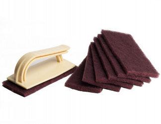 Quick scrubber Kit sada 7 drátěněk a držáku pro opravy kaučukové fólie